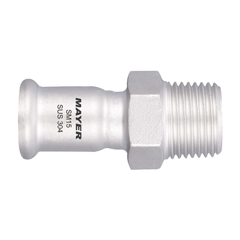 Stainless Steel Press Fitting Male Adapter Coupling with male thread 304/316L
