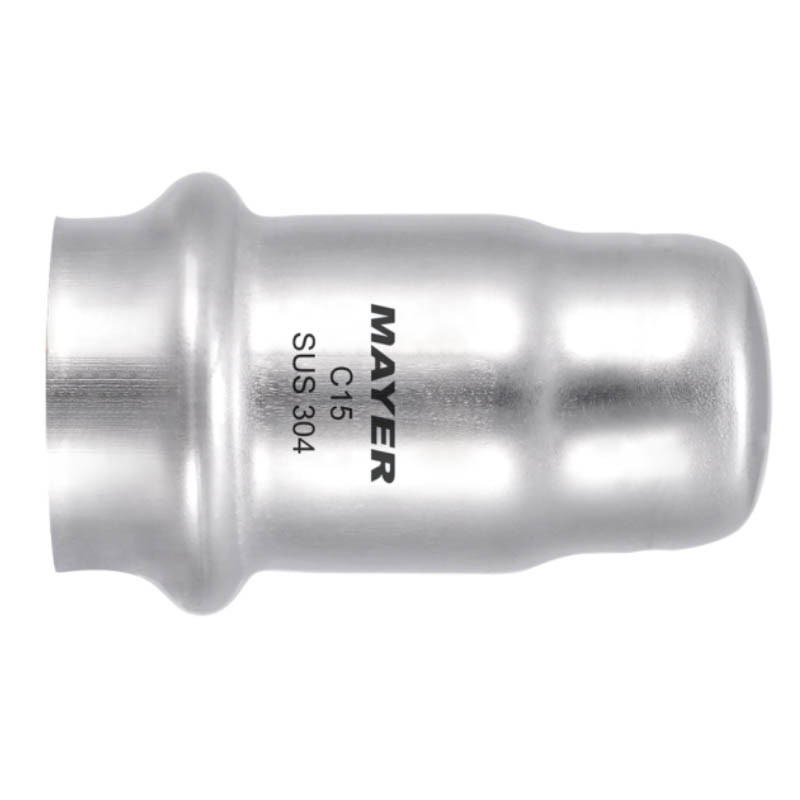 Stainless Steel Press Fitting End Cap M & V Profile