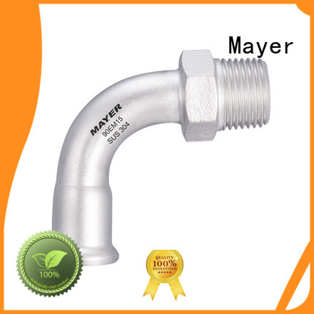 Mayer degrees elbow fitting supply heating system