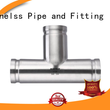 Mayer tee stainless steel grooved pipe fittings company water pipeline