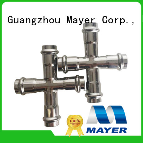 Mayer Latest cross fitting suppliers cold and hot water supply
