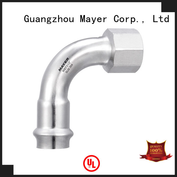 Mayer Top elbow pipe fitting supply steam system