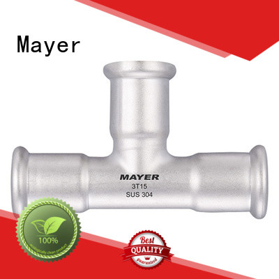 Best stainless steel tee fittings mv for sale water supply