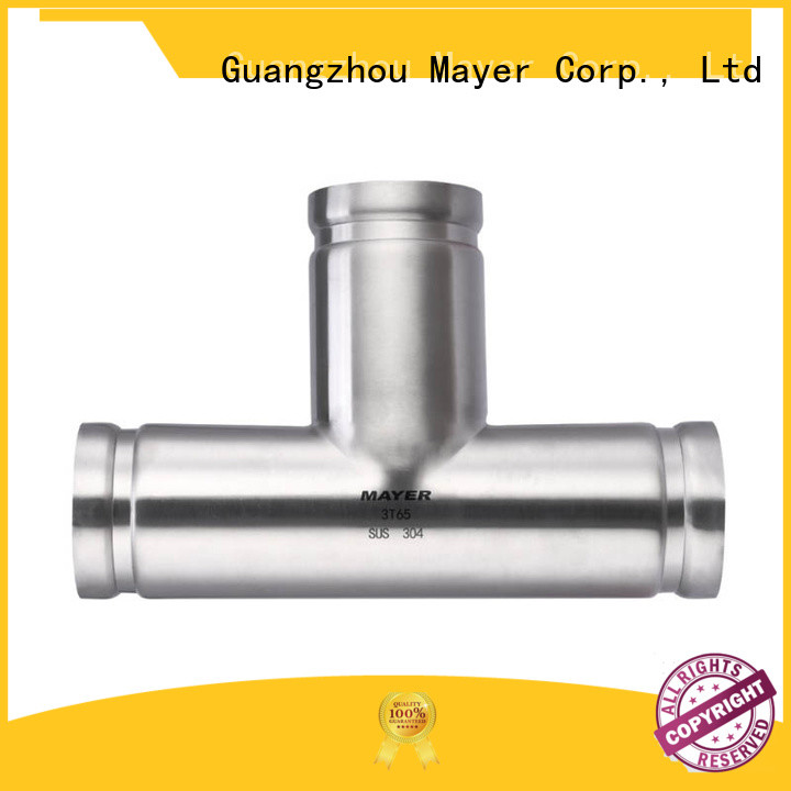 Wholesale stainless steel grooved fittings tee manufacturers water pipeline