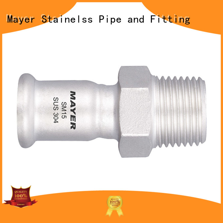 Mayer slip stainless steel coupling for business gas supply