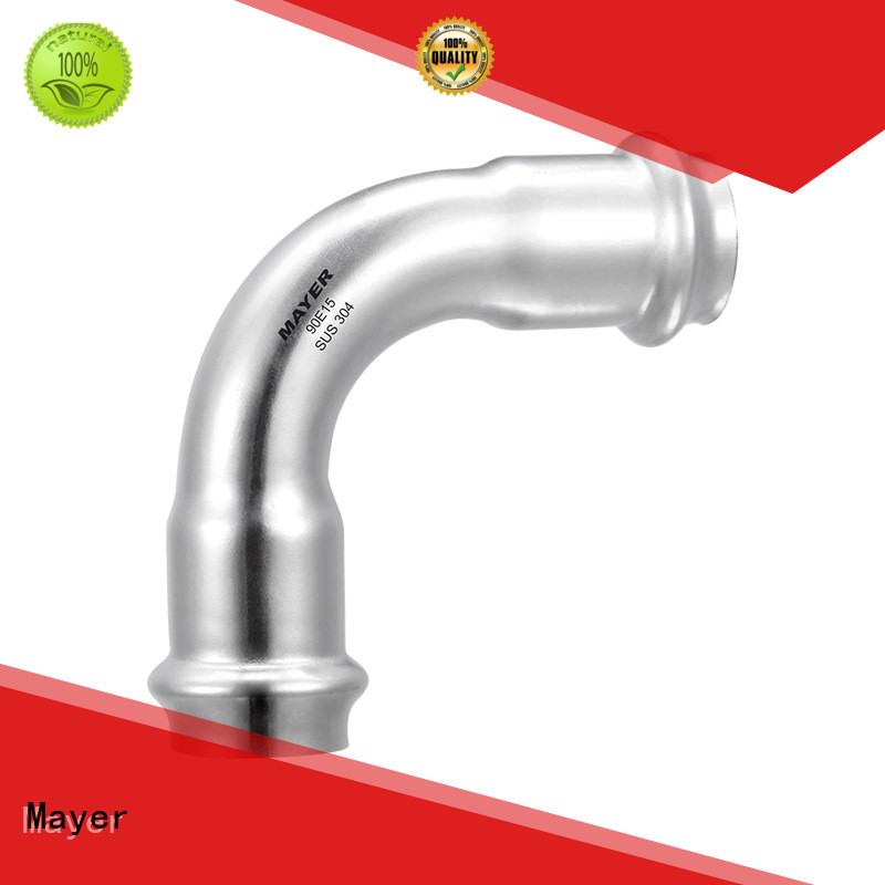 elbow pipe fitting manufacturer potable water system Mayer