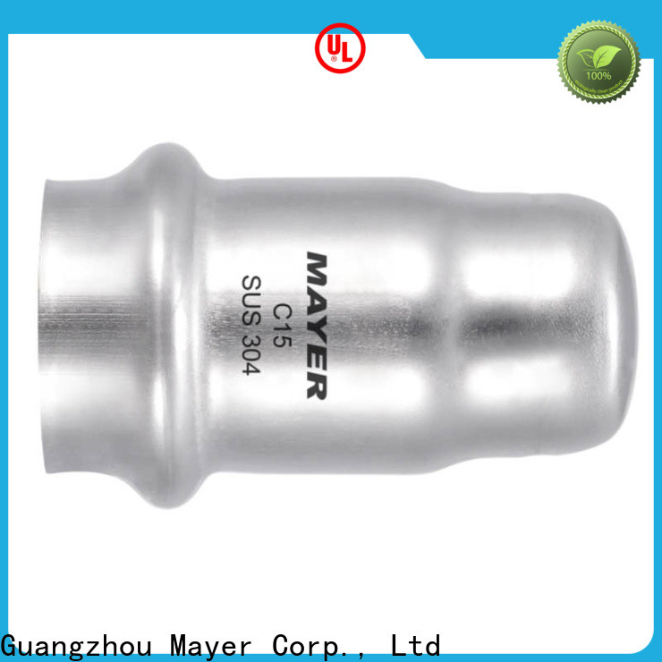 Mayer press stainless pipe cap for business water pipeline