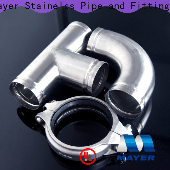 Mayer New stainless steel grooved fittings factory water pipeline