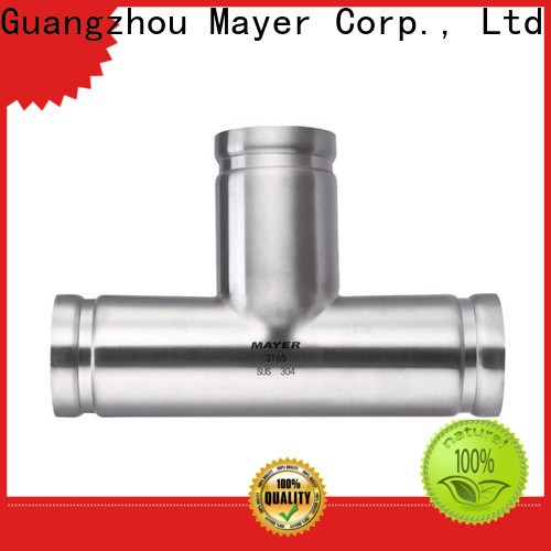 Mayer Best stainless steel grooved fittings suppliers water pipeline