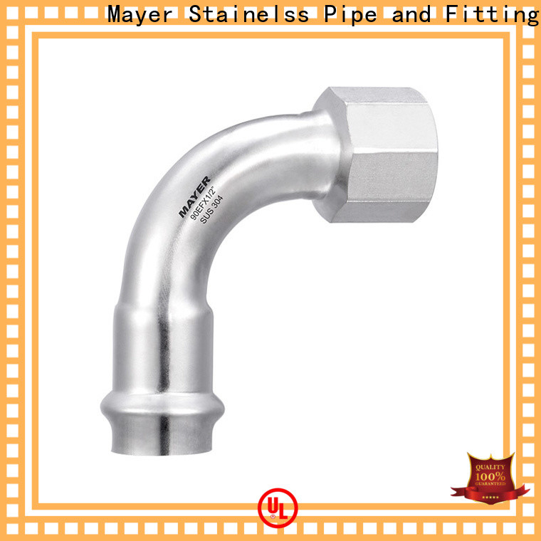Mayer female elbow pipe fitting for business steam system