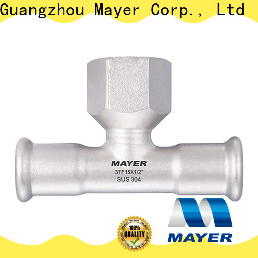 Mayer pipe stainless steel tee supply gas supply