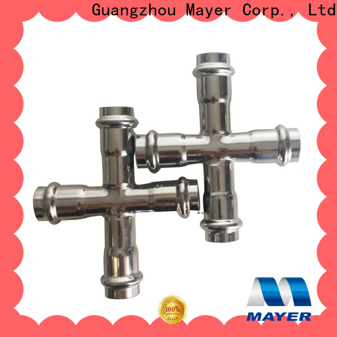 Mayer stainless cross tee pipe fitting suppliers cold and hot water supply