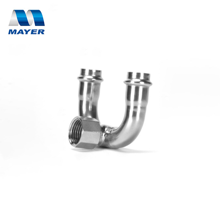 Factory Direct sales high quality stainless steel female thread fitting 180 degree U shape
