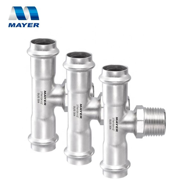 Factory Price Stainless Steel Plumbing Tee Pipe Fitting for Water Supply