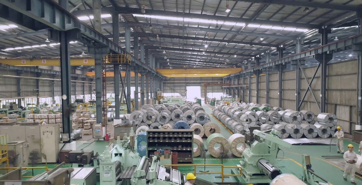 Mayer stainless steel pipe and fitting workshop with coils